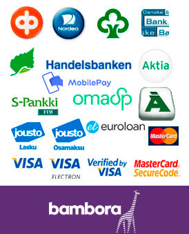 Bambora pankki, luottokortti, lasku ja osamaksu