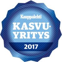 Proficient kasvuyritys 2017 Kauppalehti on sertifioinut Proficient Oy:n Kasvaja yritykseksi vuonna 2017 voimakkaasti kehittyvä kasvuyritys 2017 eli Kauppalehden Kasvaja