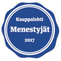 Proficient Menestyjä 2017 kovasta kehityksestä Kauppalehti sertifioi Proficientin Menestyjä 2017 yritykseksi